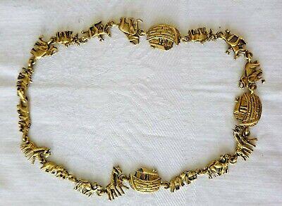60s -70s Jewelry – Necklaces, Earrings, Rings, Bracelets 1960's Vintage Noah's Ark Necklace Brass Tone Ark & Animals $9.95 AT vintagedancer.com
