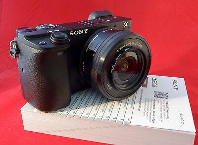 Sony Alpha a6300 Mirrorless Digital Camera with 16-50mm Zoom Lens - near Mint