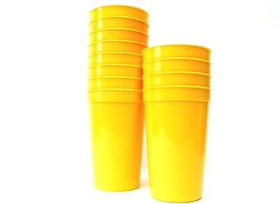 Drinking Glasses Wholesale (2 - Large Yellow 20 oz Plastic Drinking Glasses Cups  Mfg USA Dishwasher Safe)