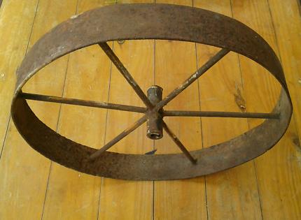 Vintage Wheelbarrow Wheel