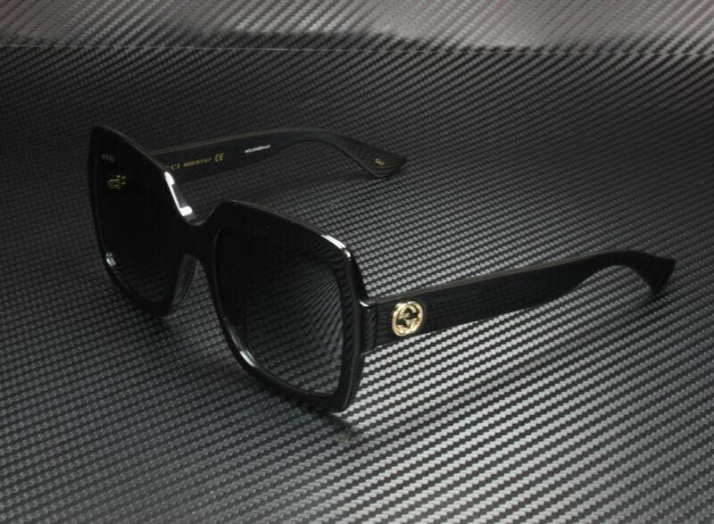 GUCCI GG0036S 001 Rectangular Square Black Grey 54 mm Women