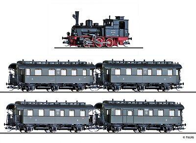 TT BR89 mit 4 Reisezugwagen DRG Ep.II Tillig 01751 NEU