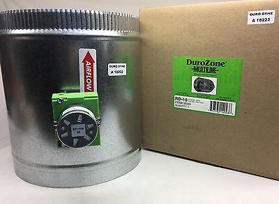 Durozone 10 Ten Inch Round Hvac Motorized Air Damper Dampner 3 Wire 24v Ac