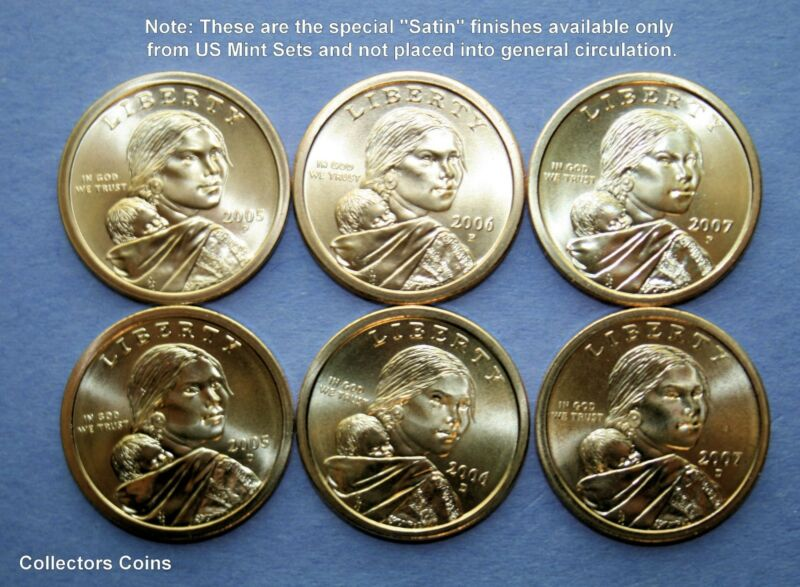 PD from Mint Set Proof Sacagawea Native American Dollar Set 2017 P D and S BU