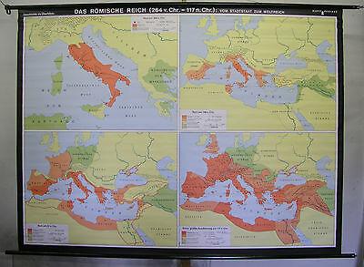 Schulwandkarte Wall Map Map Wall Map Card Roman Reich Rome 233x175cm 1993