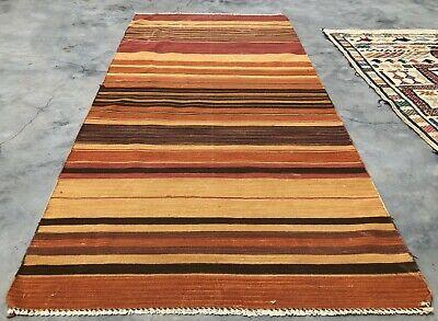 Medium 4x6 6x9 Vintage Hand Woven Wool