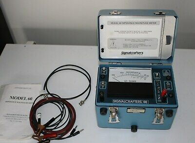 Signalcrafters Model 60 Impedance Magnitude Meter W Manualleads Signal Crafters