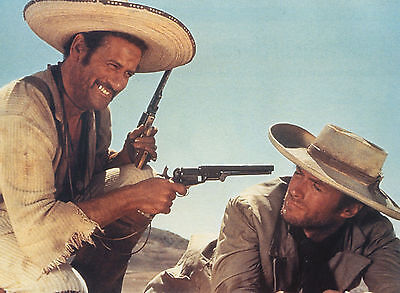 THE GOOD THE BAD AND THE UGLY CLINT EASTWOOD ELI WALLACH GREAT PHOTO