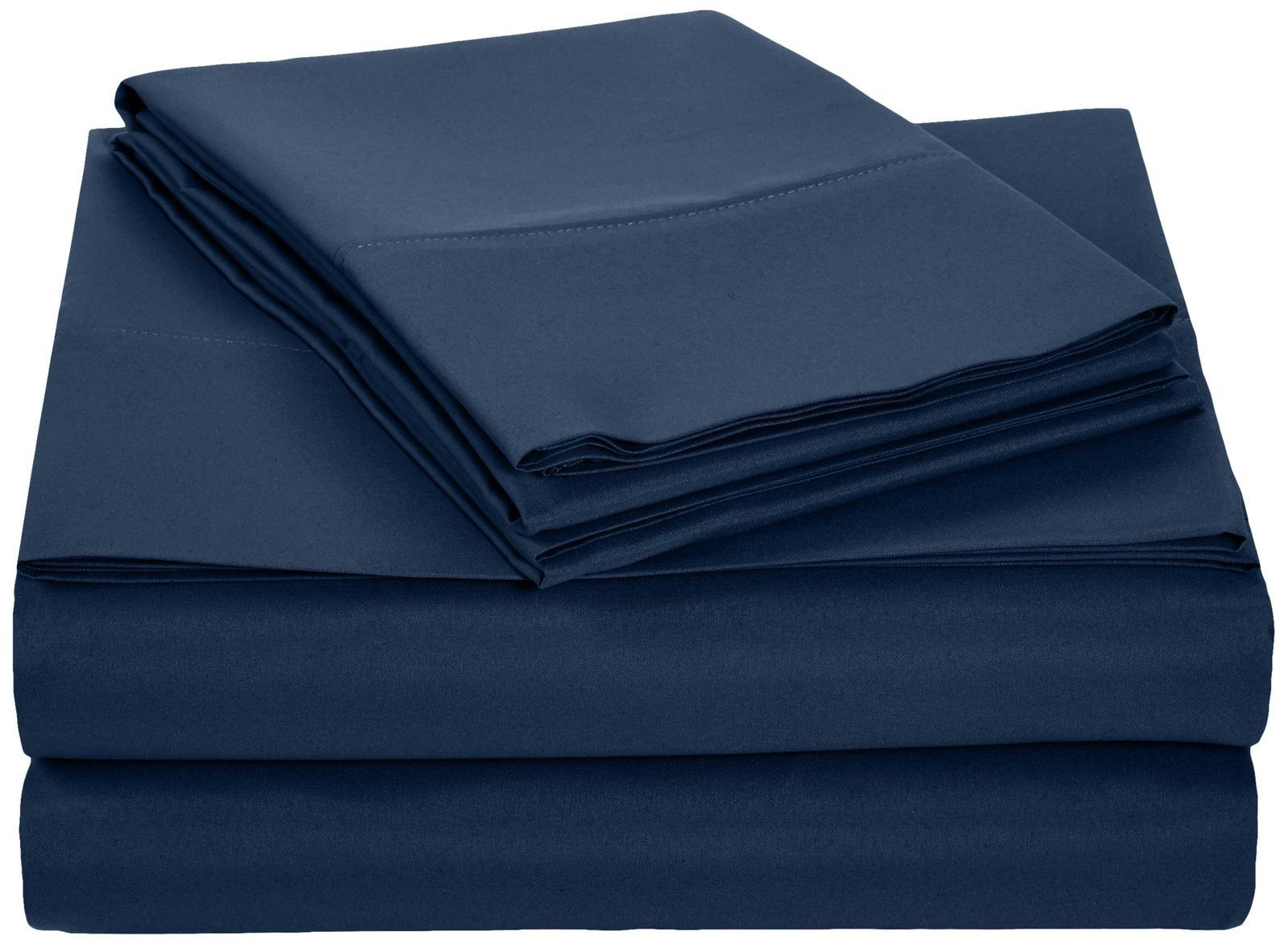 AmazonBasics Microfiber Sheet Set - Full, Navy Blue