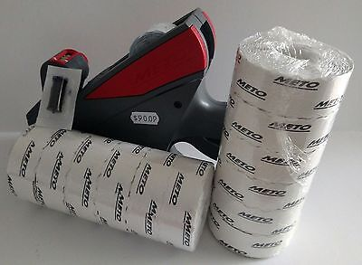 Meto 5s.26 Labe Price Gun5 Digit Large Print Box White Labels Ink Roller