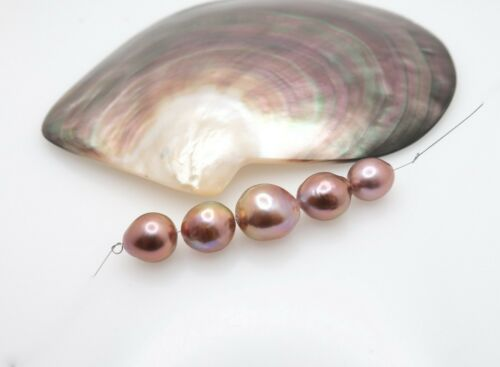 ULTRA RARE AA+ FRESHWATER EDISON HIGH GRADE CULTURED PEARLS - RICH COLORS