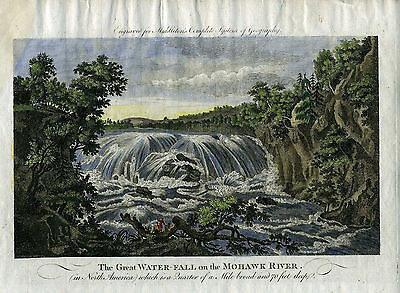 "Genuine Antique print ""The Great Water-Fall on the Mohawk River"". Middleton"