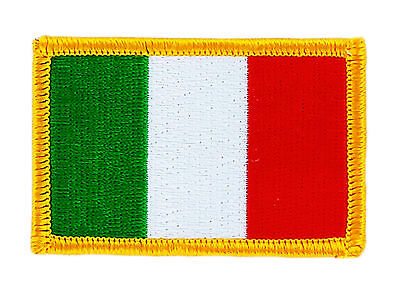 Italian Flag Patches (FLAG PATCH PATCHES ITALY ITALIA ITALIAN  IRON ON COUNTRY EMBROIDERED WORLD FLAG)