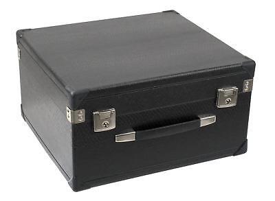 3-reihig Akkordeon Koffer Holz Case Hülle Tasche Kunstleder Bezug rot gepolstert