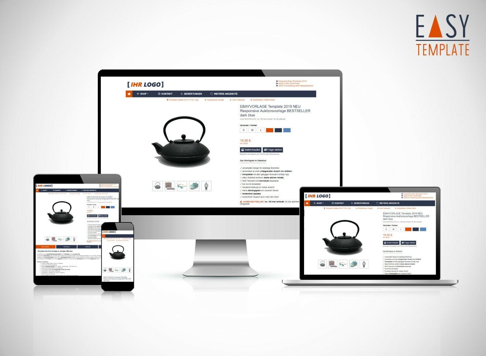 free Editor vorlage 2019 Verkaufsvorlage Responsive Template Design Orange