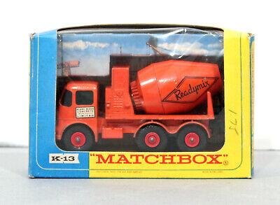 MATCHBOX KING SIZE # K-13 READY-MIX CONCRETE TRUCK - BOXED