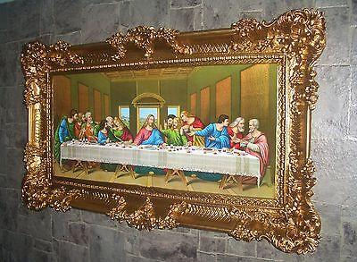 "Painting Picture Die Apostle ""12 the Last Supper Antique Look Baroque 96x57"