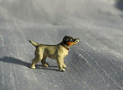 Tin Pewter Figurine of Toy Fox Terrier Russian Toy Terrier Dog IronWork