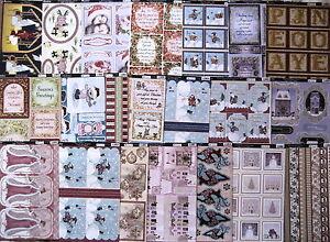 10 Kanban Xmas die cut topper sheets - card toppers - lucky dip bargain, job lot