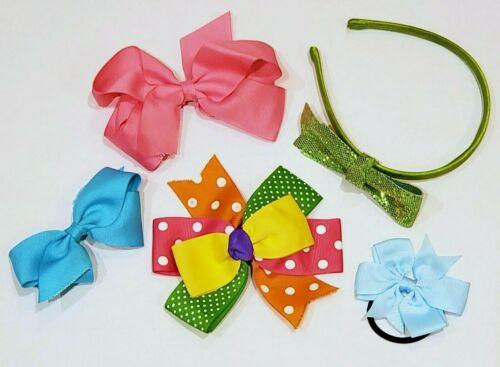 Hair Accessories Mixed Lot Colorful Polka Dot Hair Bows & Headband