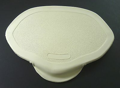 Satteldecke - neutral - Denfeld Form - weiß - für Fahrer- und Sozius-Sattel