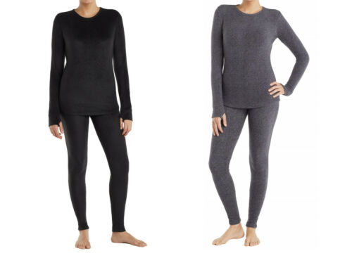ClimateRight by Cuddl Duds fleece base layer set NWT UPICK womens XXL black gray