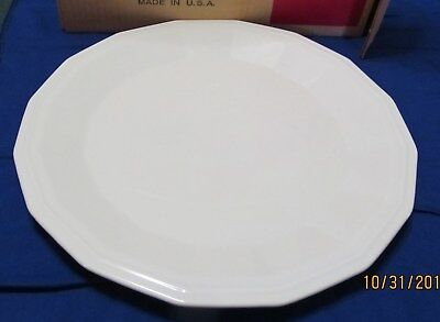 White Dover Ironstone ~ Chop Plate 12 1/2 inch ~ by Designer Group ~ CIB