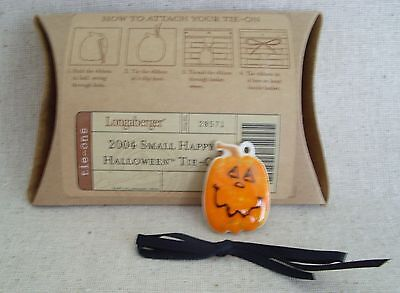 Longaberger Halloween Pumpkin Jack O Lantern Tie On New In Box Authentic