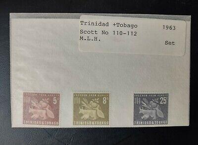 TRINIDAD & TOBAGO STAMPS • MLH 1963 Scott# 110-12 • FOOD, AGRICULT 99¢ LOW START