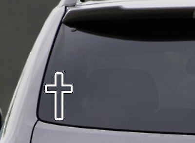 Cross Stickers (CROSS VINYL DECAL CAR WINDOW LAPTOP BUMPER STICKER GOD CHURCH RELIGIOUS)