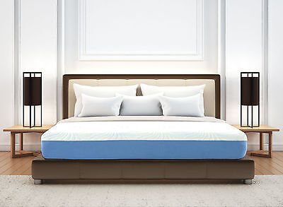 Konnor Sleep 8 In Blue Gel Infused   Comfort Firm Memory Foam Mattress Size Tfq