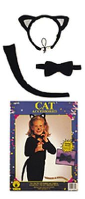 Halloween Zubehör Katze (Rub - Karneval Zubehör Set Katze zum Kinder Kostüm an Fasching Halloween)