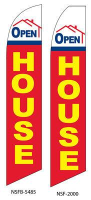 Open House Flag Flutter Feather Flag Swooper Advertising Sign Bow Banner