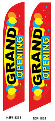 Grand Opening Flag Flutter Feather Flag Swooper Advertising Sign Bow Banner