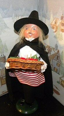BYERS CHOICE CAROLER Halloween Witch with Tray of Candy Apples 2014   - Byers Halloween