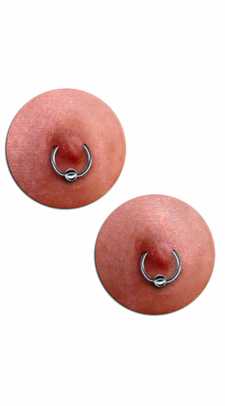 One Size Fits Most Womens Photo-realistic Nipple Ring Pasties