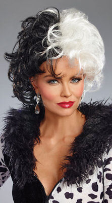 Diva Cruella De Vil Perücke Halloween Kostüm-zubehör 10675 (Cruella Zubehör)