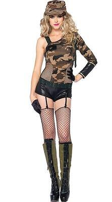 Camo Doll Military Romper Costume for Women size M New w/Defect by Leg Avenue