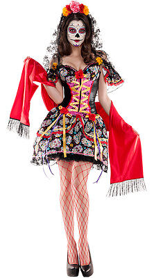 Party King La Catrina Day Dead Body Shaper Dress Costume PK365 ~ Also Plus Sizes