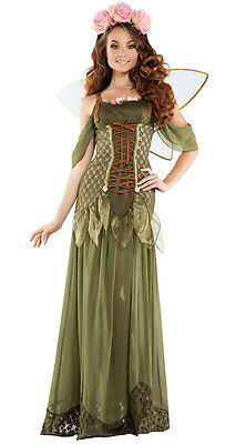 Sexy Starline Rose Fairy Princess Green Chiffon Dress Gown Costume (Rose Fairy Kostüm)