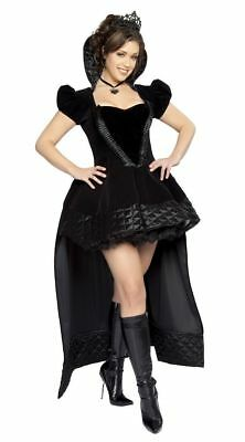 Evil Queen Costume Plus Size (Roma Sexy Evil Queen Gothic Halloween Cosplay Costume Adult 12-14 XXL)