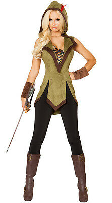 Roma Hooded Outlaw Robin Hood 2pc Costume 10109