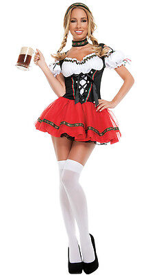 Oktoberfest Flirty Beer Girl Costume German Bavarian Fancy Dress Party Outfit - German Girl Outfits