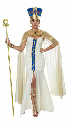 Women's Halloween Neferti Egyptian Goddess QUEEN OF EGYPT Adult Costume (Goddess Costume For Women)