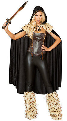 Roma Deluxe 3pc Sexy War Hero Barbarian Warrior Faux Leather & Fur Costume 4802