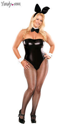 Queen Womens Plus Size Adult Bunny Costume, Plus Size Adult Sexy Bunny Halloween