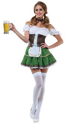 Sexy Starline Beer Girl Bar Maiden Ocktoberfest Mini Dress Costume - Ocktoberfest Costumes
