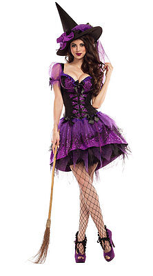 Party King Perfect Purple Witch Body Shaper Dress Costume (Witch King Kostüm)