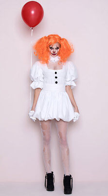 M DANCING SEWER CLOWN COSTUME Costume IT White Dress NEW](Scary Female Clown Costume)