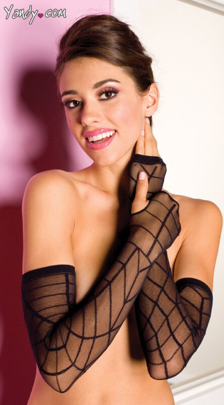 One Size Fits Most Womens Fingerless Web Gloves